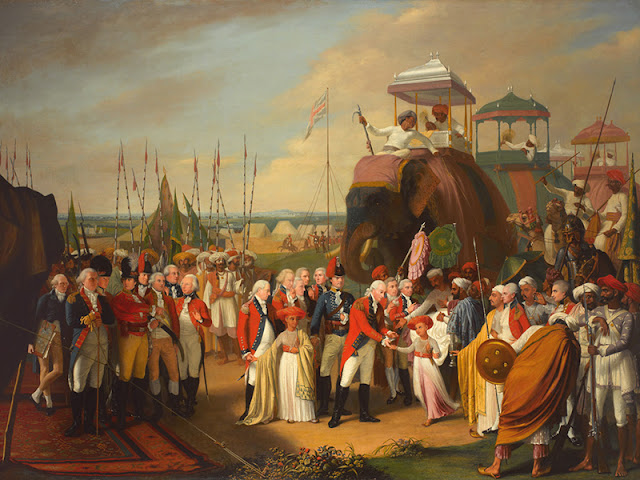 Reception of the Mysorean Hostage Princes by Marquis Cornwallis, by Robert Home