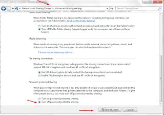 menonaktifkan password pc agar lebih mudah untuk melakukan sharing printer