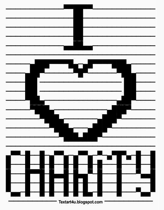 Love Text Art : Charity, Paste, ASCII