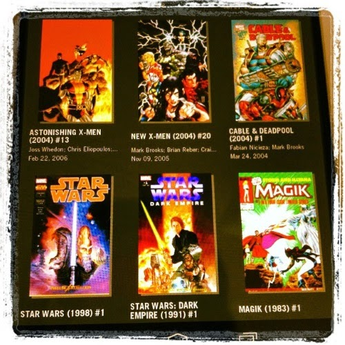 Six digital comics arrayed in a grid. The titles are listed below.