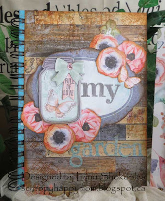Butterfly Kisses Garden Journal and Card by Lynn Shokoples for BoBunny