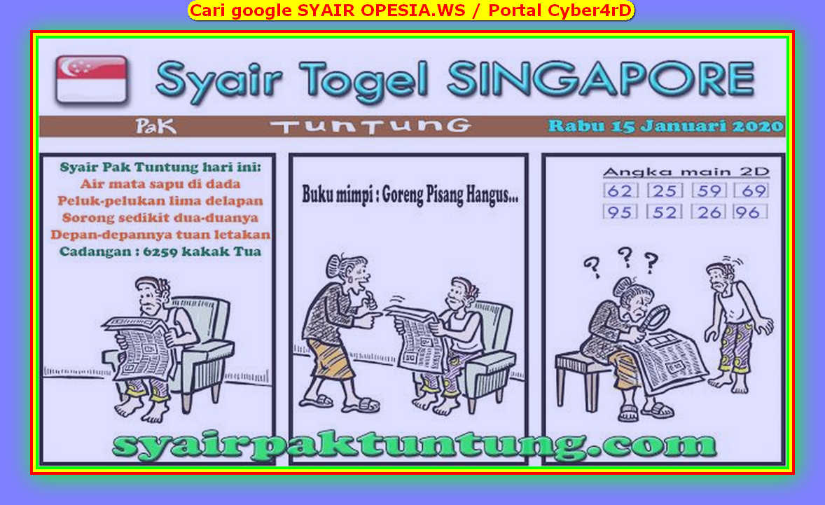 Kode syair Singapore Rabu 15 Januari 2020 93
