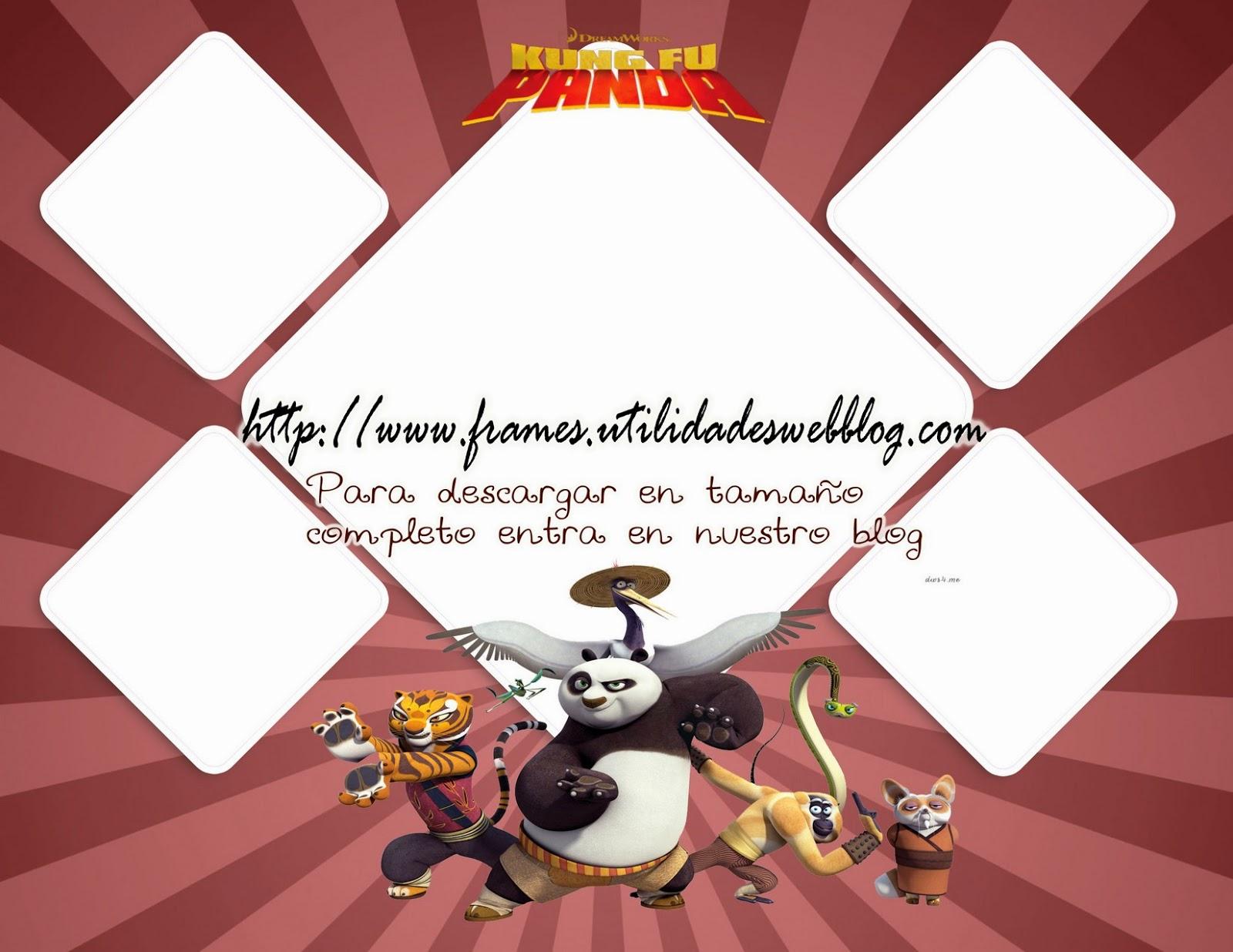 Marco para colocar varias fotos con Kung Fu Panda