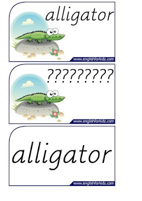alligator printable flashcards