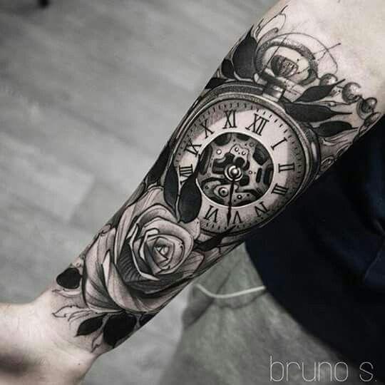 Tatuajes para antebrazo reloj