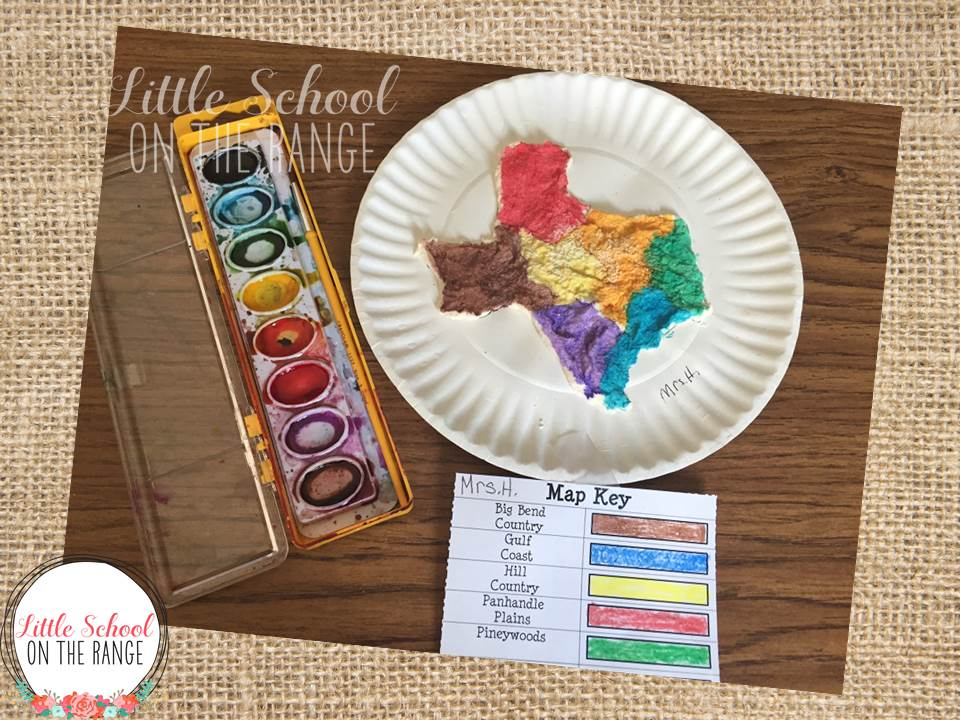 Little School on the Range: Salt Dough Maps