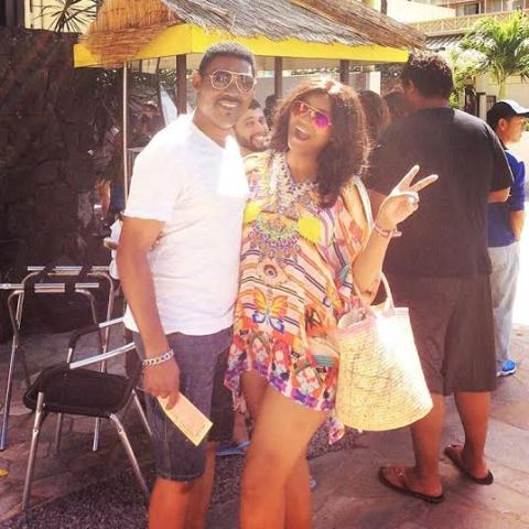 Omotola & Husband Celebrate 20th wedding Anniversary in Hawaii