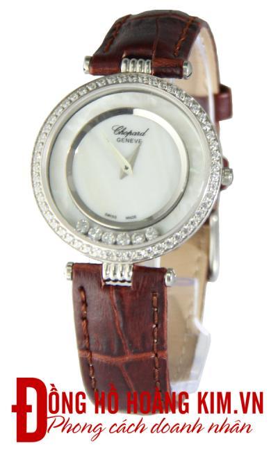 đồng hồ chopard nữ dây da chính hãng