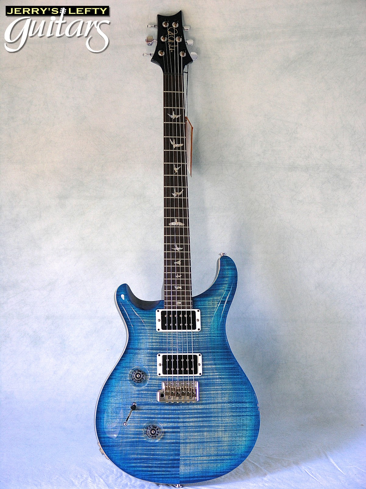 jerry 39 s lefty guitars newest guitar arrivals updated weekly prs custom 24 10 top flame faded. Black Bedroom Furniture Sets. Home Design Ideas