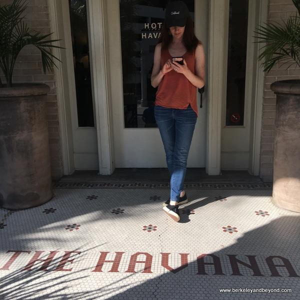 front door at Hotel Havana in San Antonio, Texas