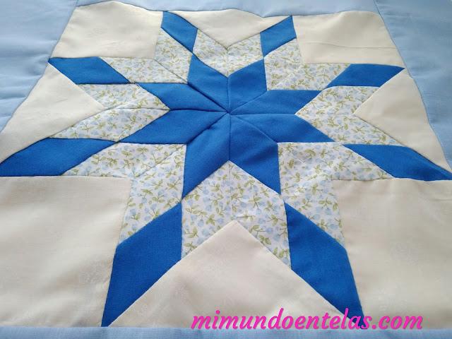 tutorial de patchwork, estrella de la mañana,