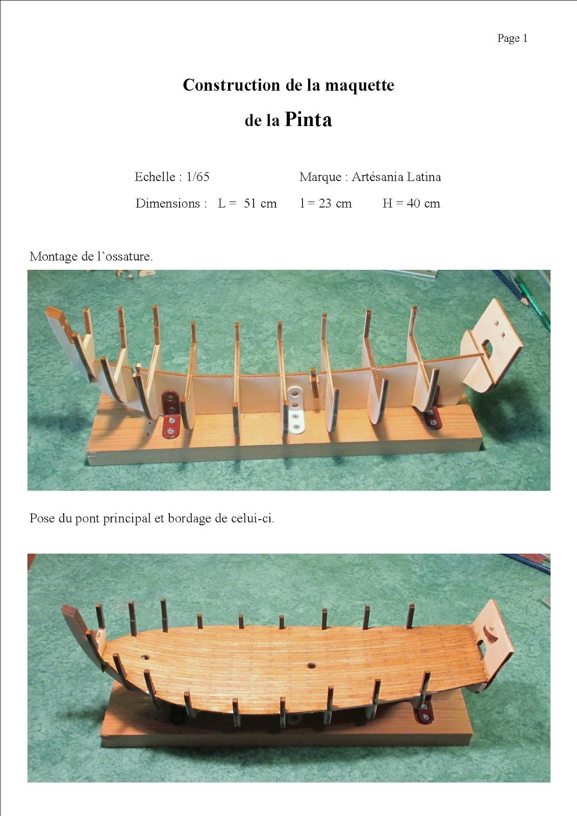 maquettes de bateaux en bois maquette de la pinta. Black Bedroom Furniture Sets. Home Design Ideas