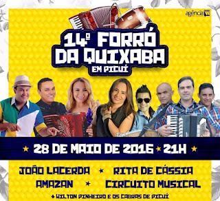 Forró da Quixaba acontece neste sábado (28) em Picuí; veja atrações