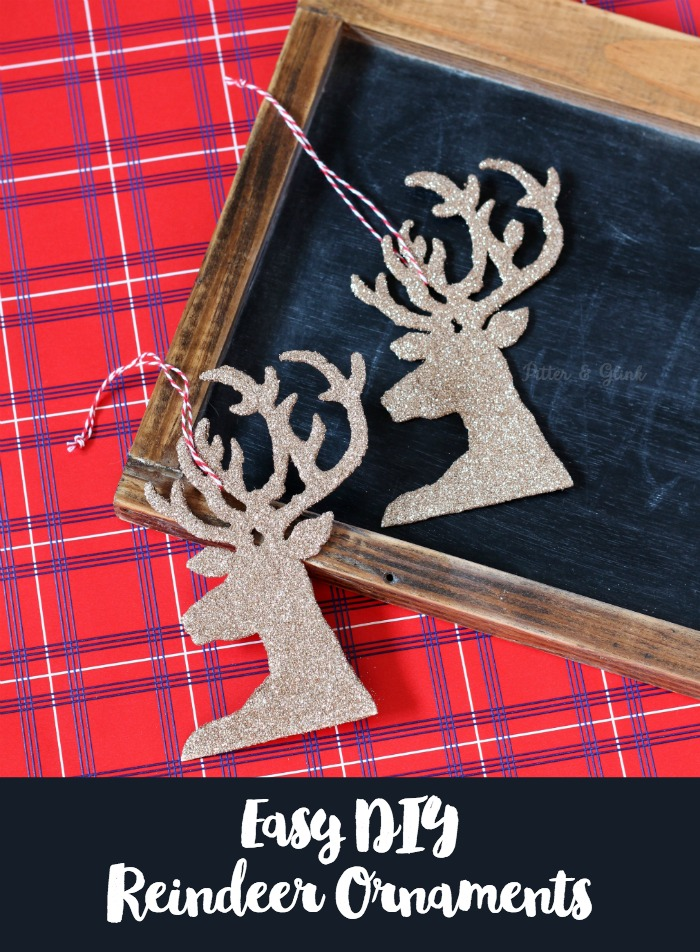 Last Minute Christmas Craft Easy DIY Reindeer Ornaments