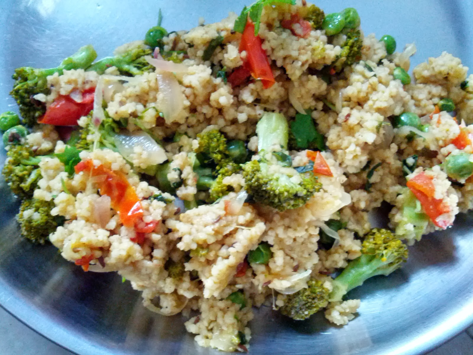 Foxtail millet Cauliflower & Broccoli rice
