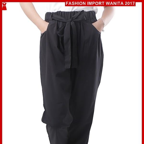 ADR071 Celana Hitam Pita Panjang Jogger Import BMGShop