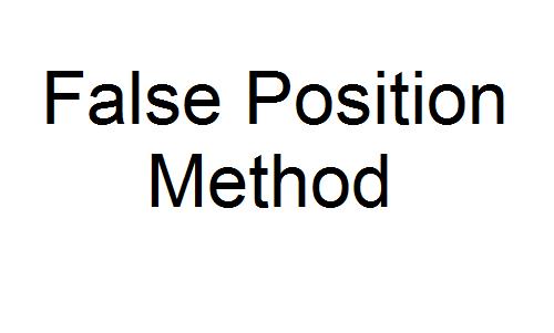 False Position Method in matlab