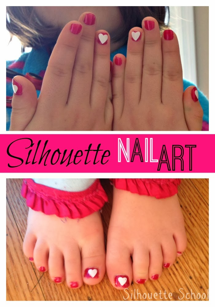 Silhouette {Heart} Nail Art Tutorial - Silhouette School