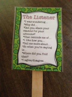 Help your students master their listening and speaking skills during their reading time with these engaging sentence stems on task cards!