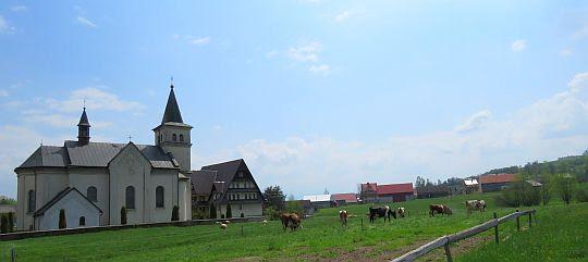 Kościół pw. Matki Bożej Bolesnej w Pieniążkowicach.
