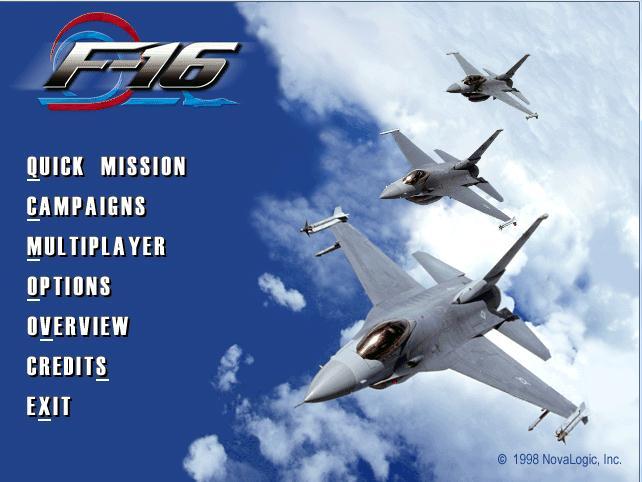 F-16 aggressor download (1999 simulation game).