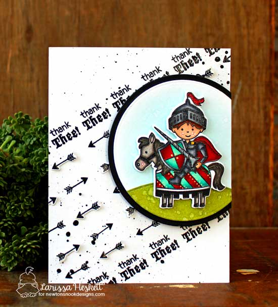 Thank Thee Card by Larissa Heskett | Knight's Quest Stamp Set by Newton's Nook Designs #newtonsnook
