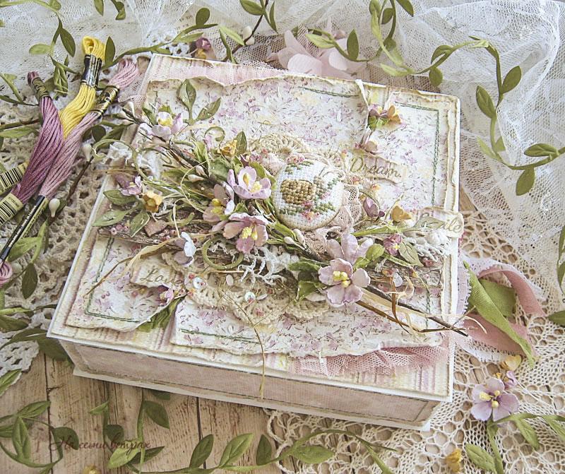 Открытка-коробочка Весна, тропинка, улитка