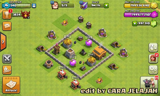 Desain Base Hybrid Clash Of Clans Town Hall 3 Update Terbaru 6