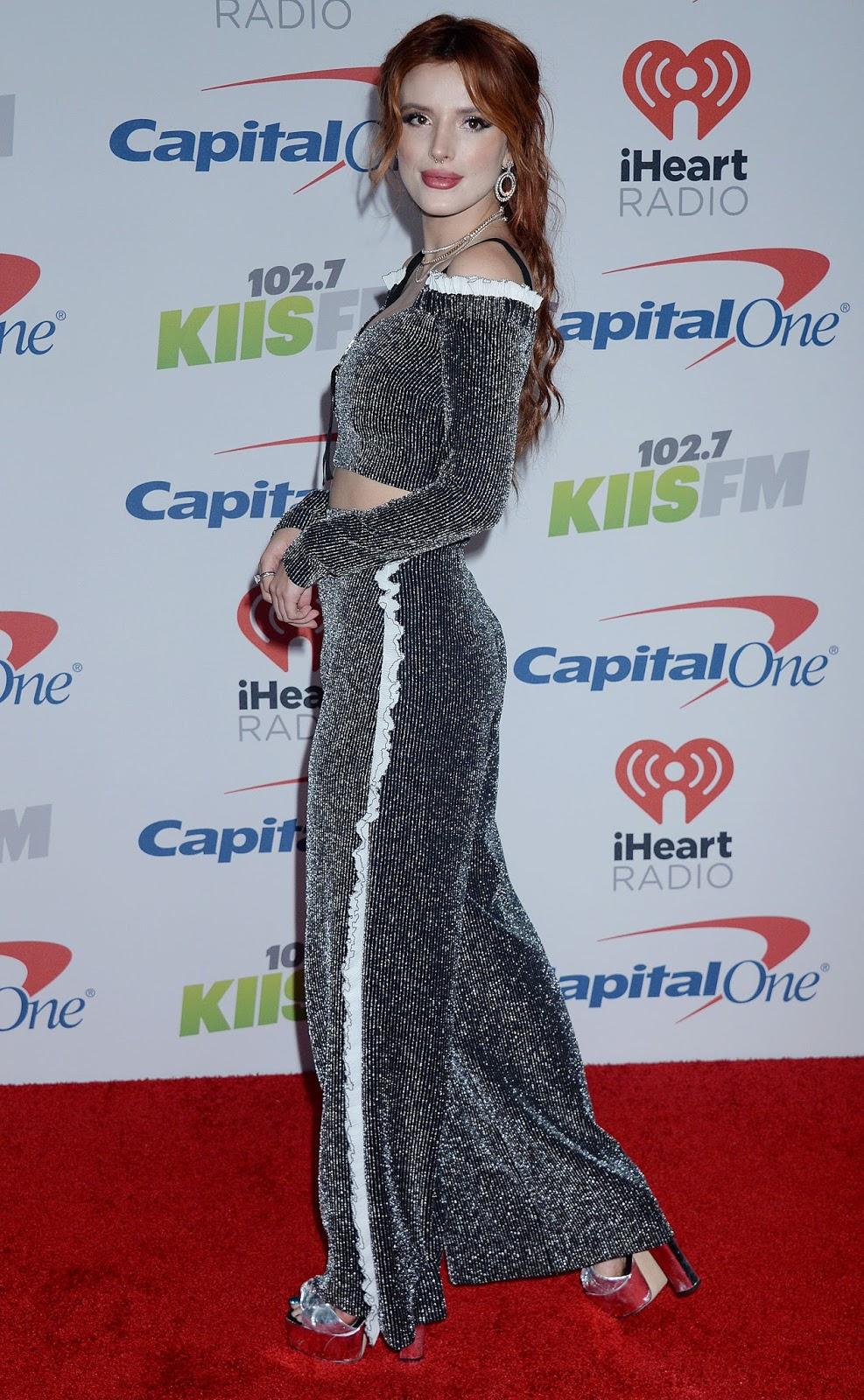 Bella Thorne Posing at 102.7 KIIS FM's Jingle Ball