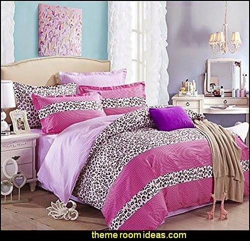 Beautiful Cheetah Print Pink Duvet Cover Set