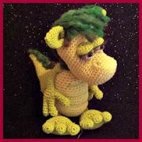 Dragón verde amigurumi