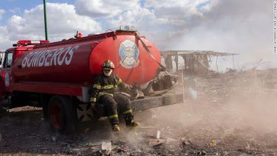 explosão em fábrica de fogos