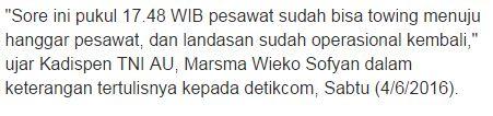 TNI AU: Pesawat Hercules A-1308 yang Mogok di Bandara Malang Telah Dibawa ke Hanggar