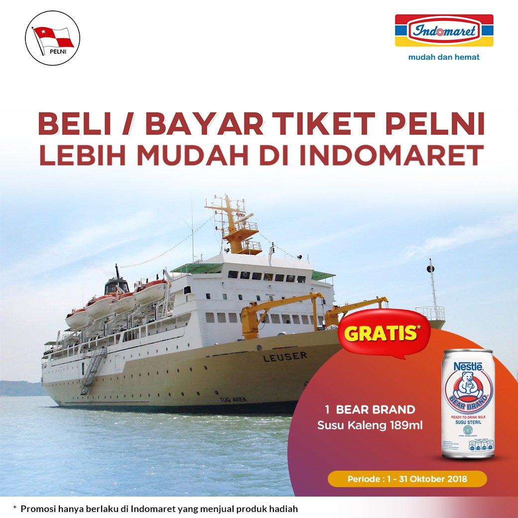 Indomaret - Promo Beli/bayar tiket PELNI Gratis 1 Susu Steril Bear Brand (s.d 31 Okt 2018)
