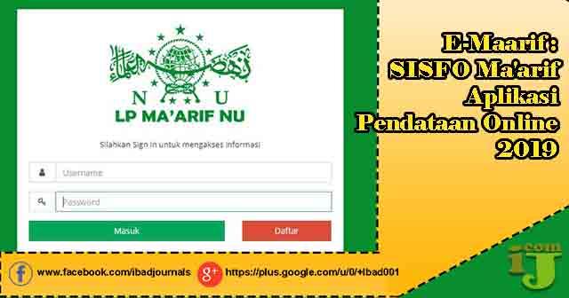 Maarif merupakan sistem berita aplikasi pendataan online  E-Maarif : Sisfo Maarif Aplikasi Pendataan Online