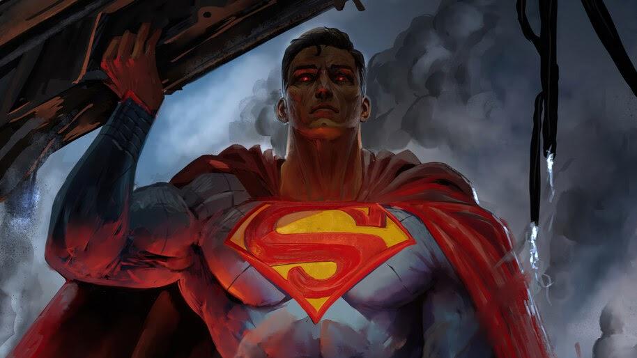 Superman, Red Eyes, 4K, #6.2009