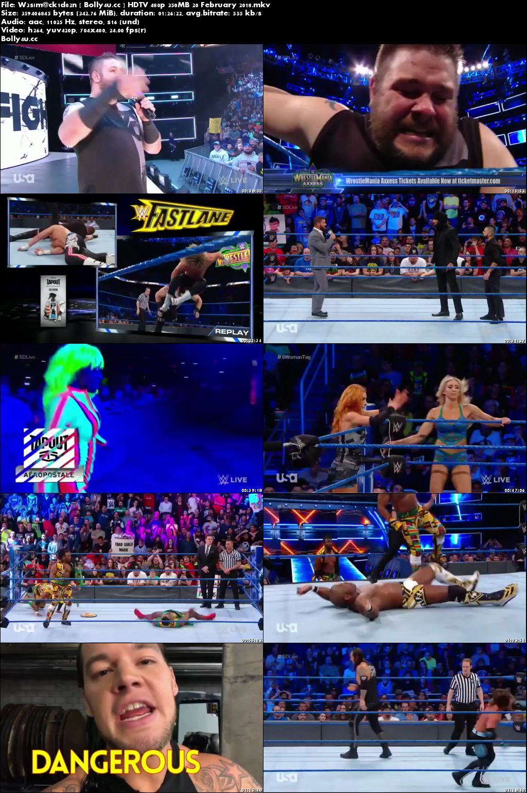 WWE SmackDown Live HDTV 480p 350MB 20 February 2018 Download