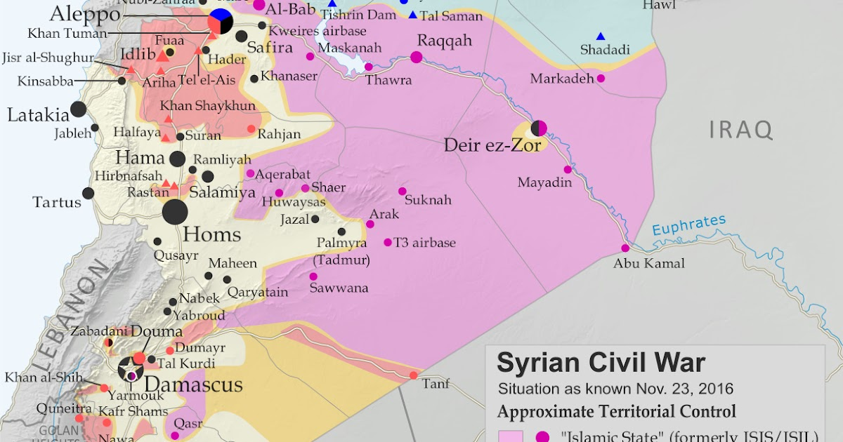 Syrian Civil War Control Map & Report: November 2016 - Political ...