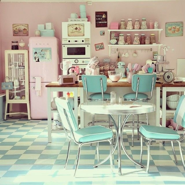 mcd une cuisine vintage et pastel mon r ve. Black Bedroom Furniture Sets. Home Design Ideas