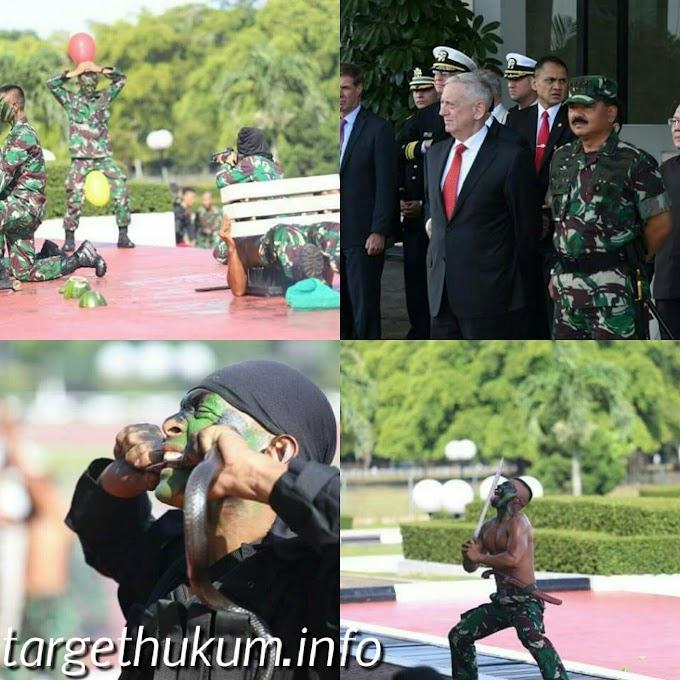 Demontrasi Prajurit TNI (Kostrad) di Depan Menhan AS Mr. James Norman Mattis