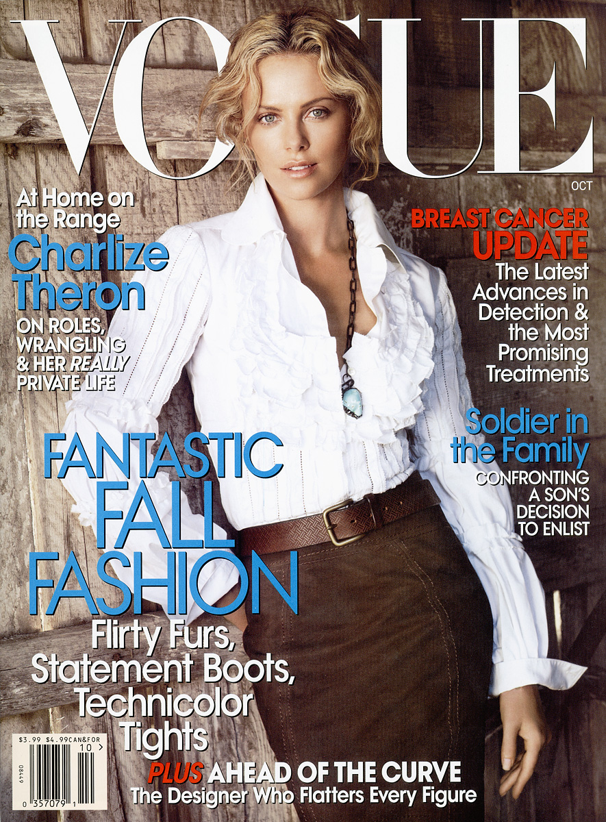 Vogue The Top Selling Fashion Magazine: Oh!: Charlize Theron Throughout The Years In Vogue