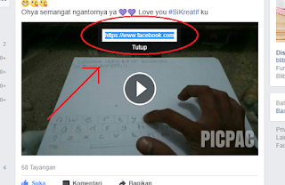 copy link download video di facebook