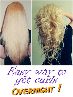 Easy way to get curls overnight