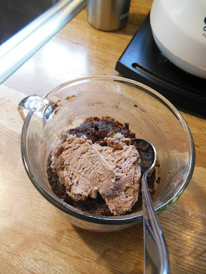 Chocolate Snack Cake, made in a mug, easy microwave baking!