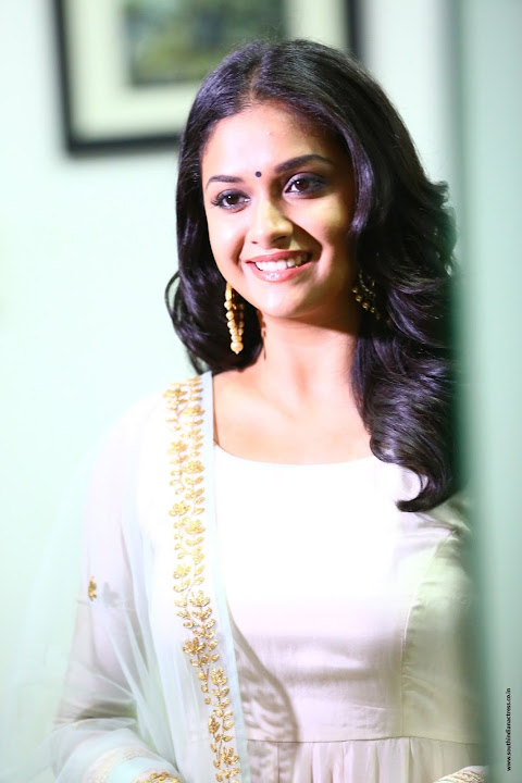 Keerthy Suresh at the promotion of Thaana Serndha Koottam