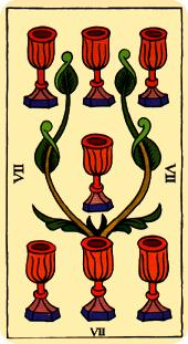 Tarot de Marsella: Siete de Copas