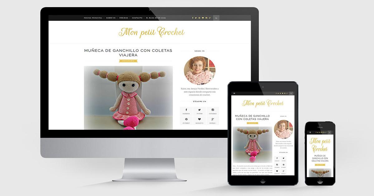Diseño de blog responsive Mon petit Crochet