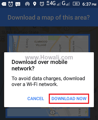 google maps offline mode