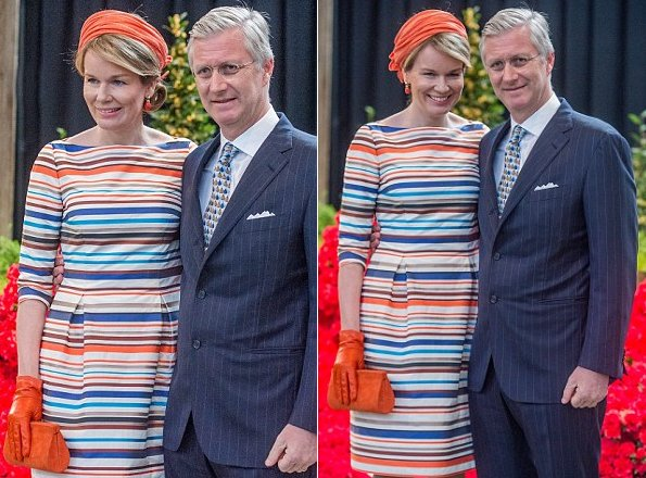 Queen Mathilde of Belgium and King Philippe of Belgium attend 35th Floralies of Ghent official launch