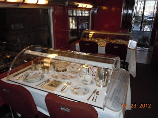 santa fe railroad dining car